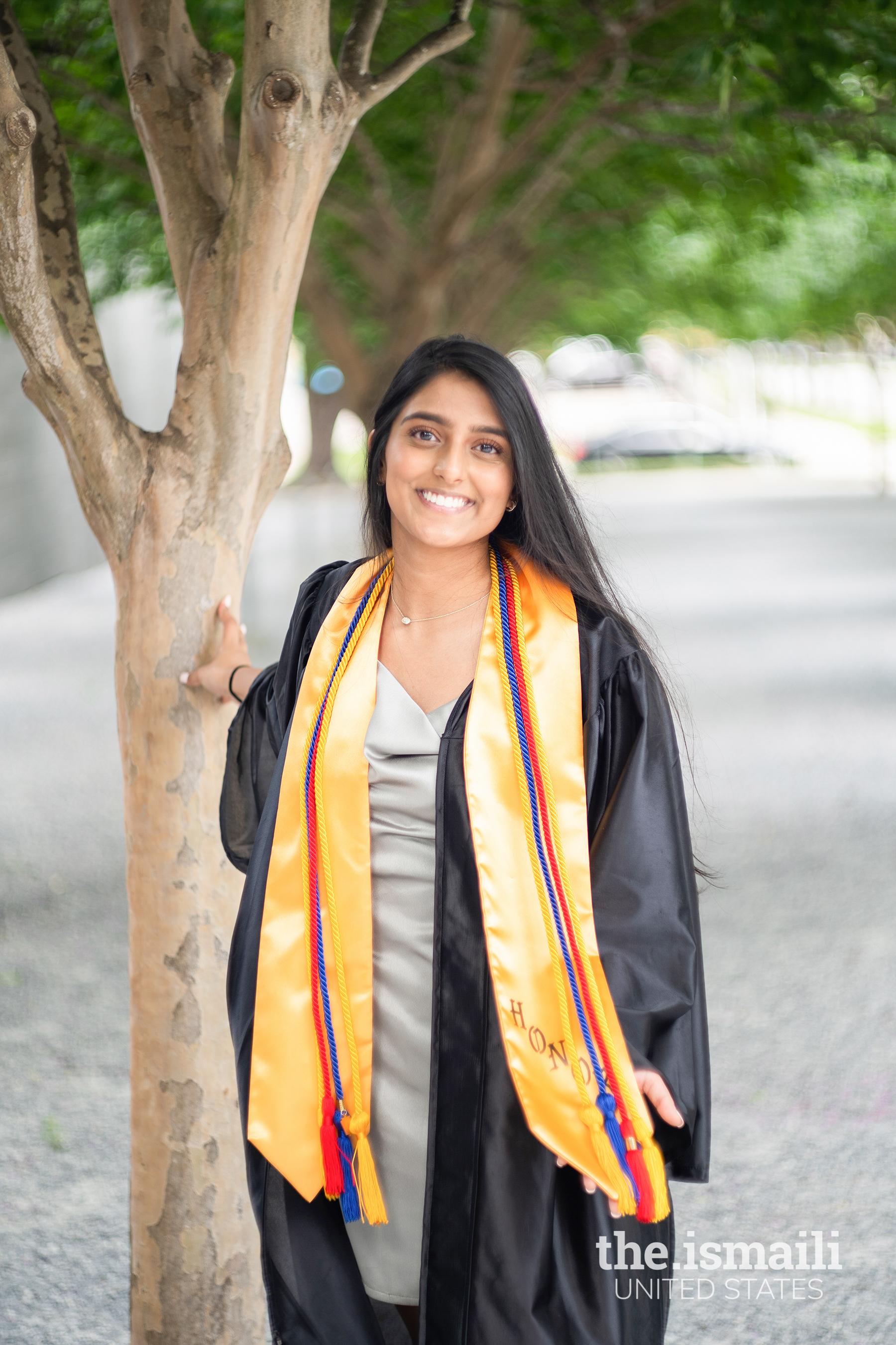 Valedictorian Fayza Dholasania from Nederrland, Texas