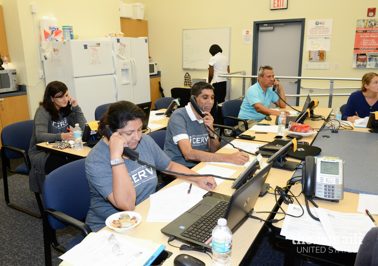 I-CERV members of the Jamat at the Orlando Emergency Information Center, following Hurricane Irma.