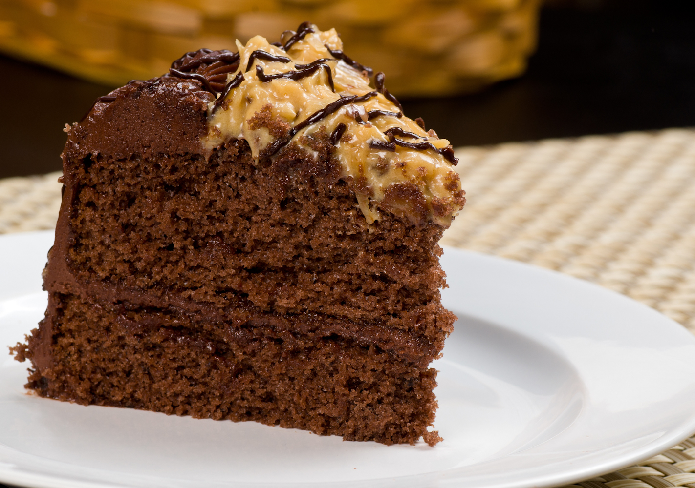 You just can't go wrong with layers of chocolate cake, coconut and pecan. Eat in moderation, and enjoy with a class of milk for nutrition.