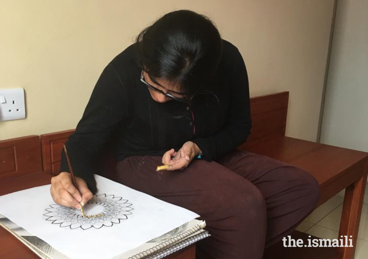 Sara's art takes on a wide range of forms, from sketches to acrylic paintings.