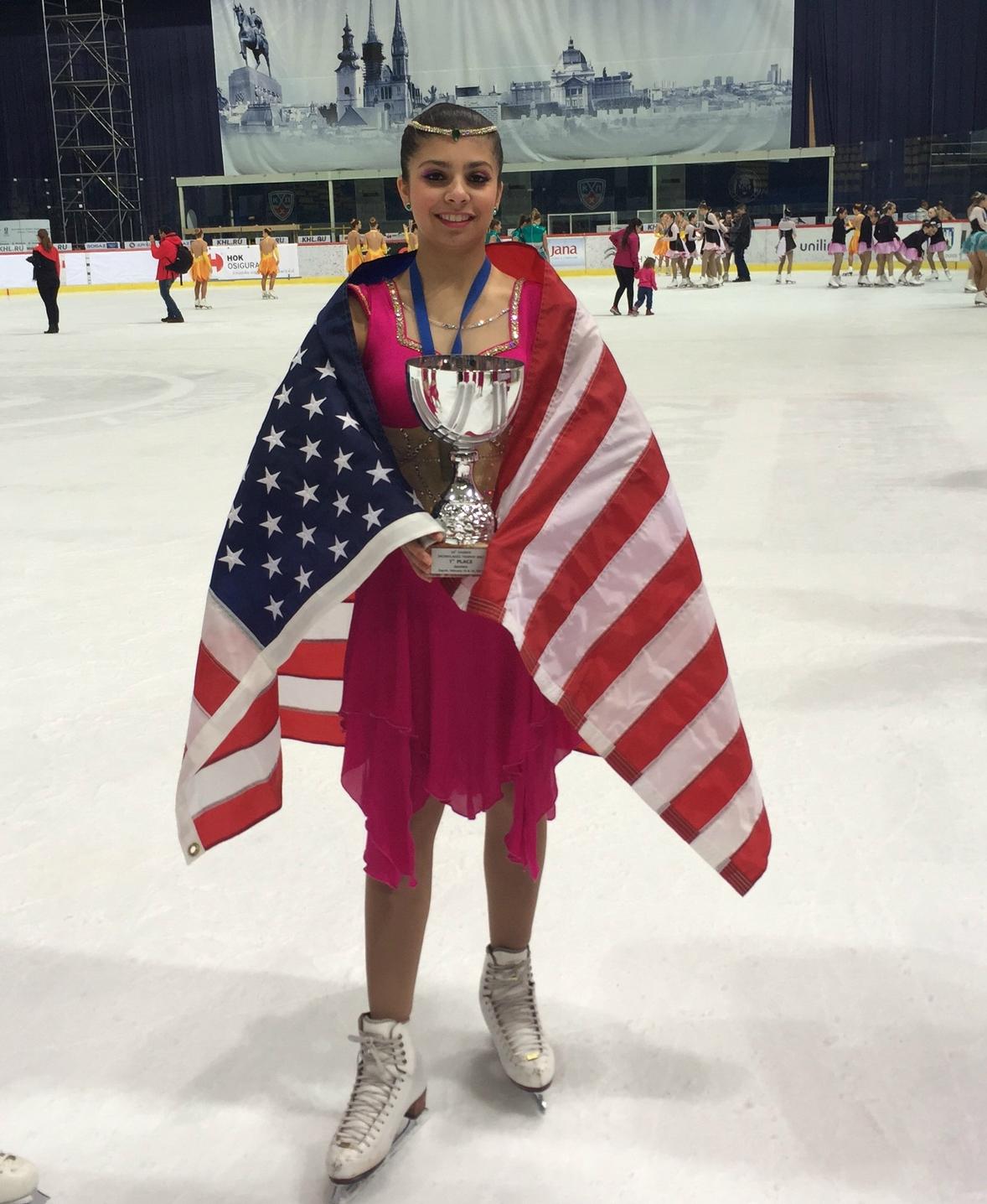 Aliyah Zagreb 2: Aliyah Shaikh with her trophy in Zagreb