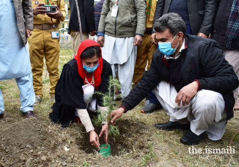 Through the 'Darakht se Hayat' initiative, members of the Jamat worked with community partners to plant over 162,000 trees across Pakistan.