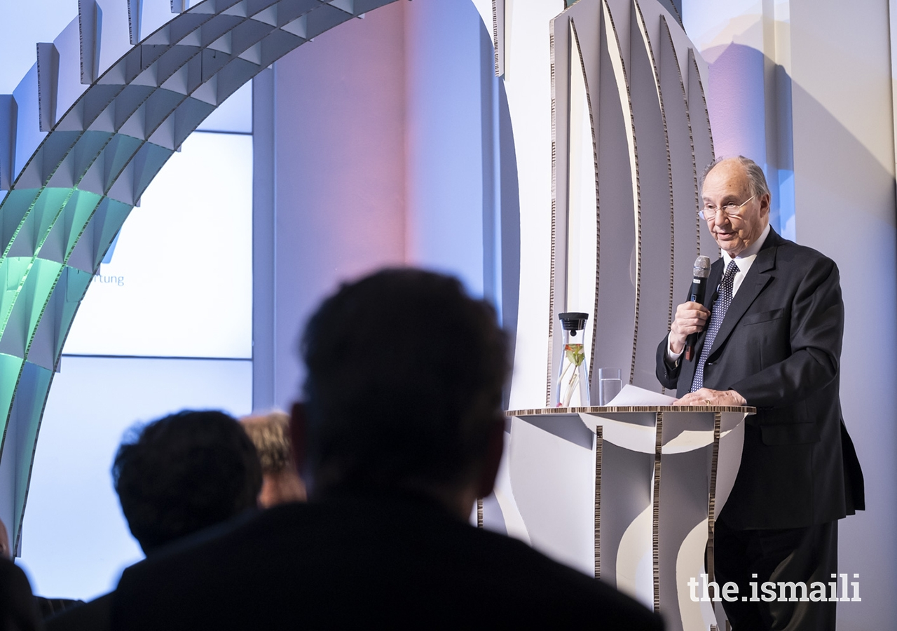"""Mawlana Hazar Imam delivers remarks at the event entitled """"Fragile States Thinking Ahead"""" in Berlin."""