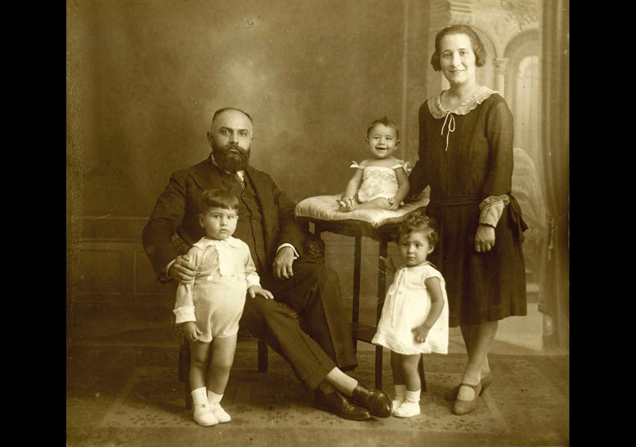 Ashad Ali Haji and his family in Madrid, circa 1928. Ismaili Council for Portugal