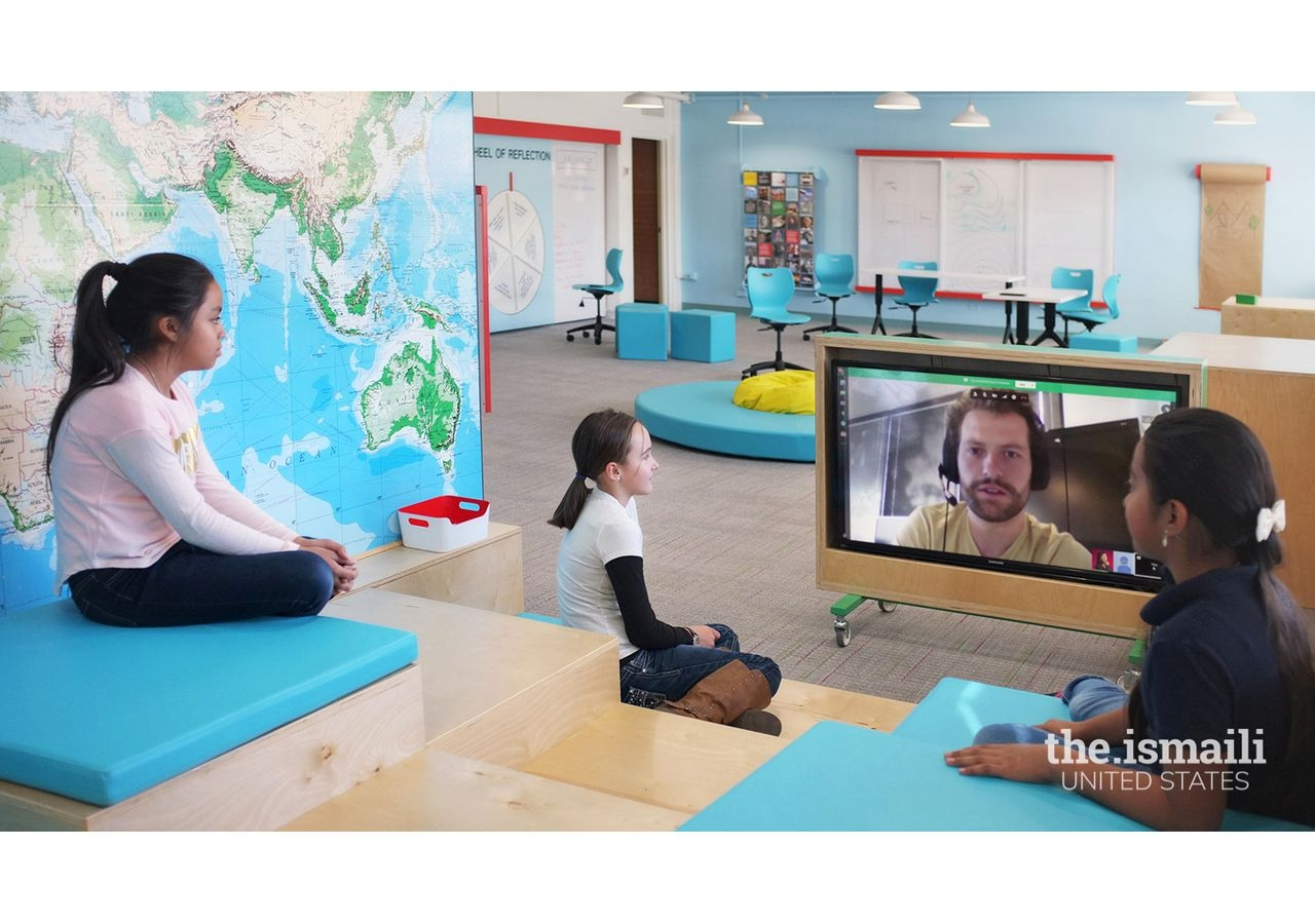 At Columbine Elementary, Danish designed a Skype Mountain so kids could virtually meet with professionals and experts from all over the world.
