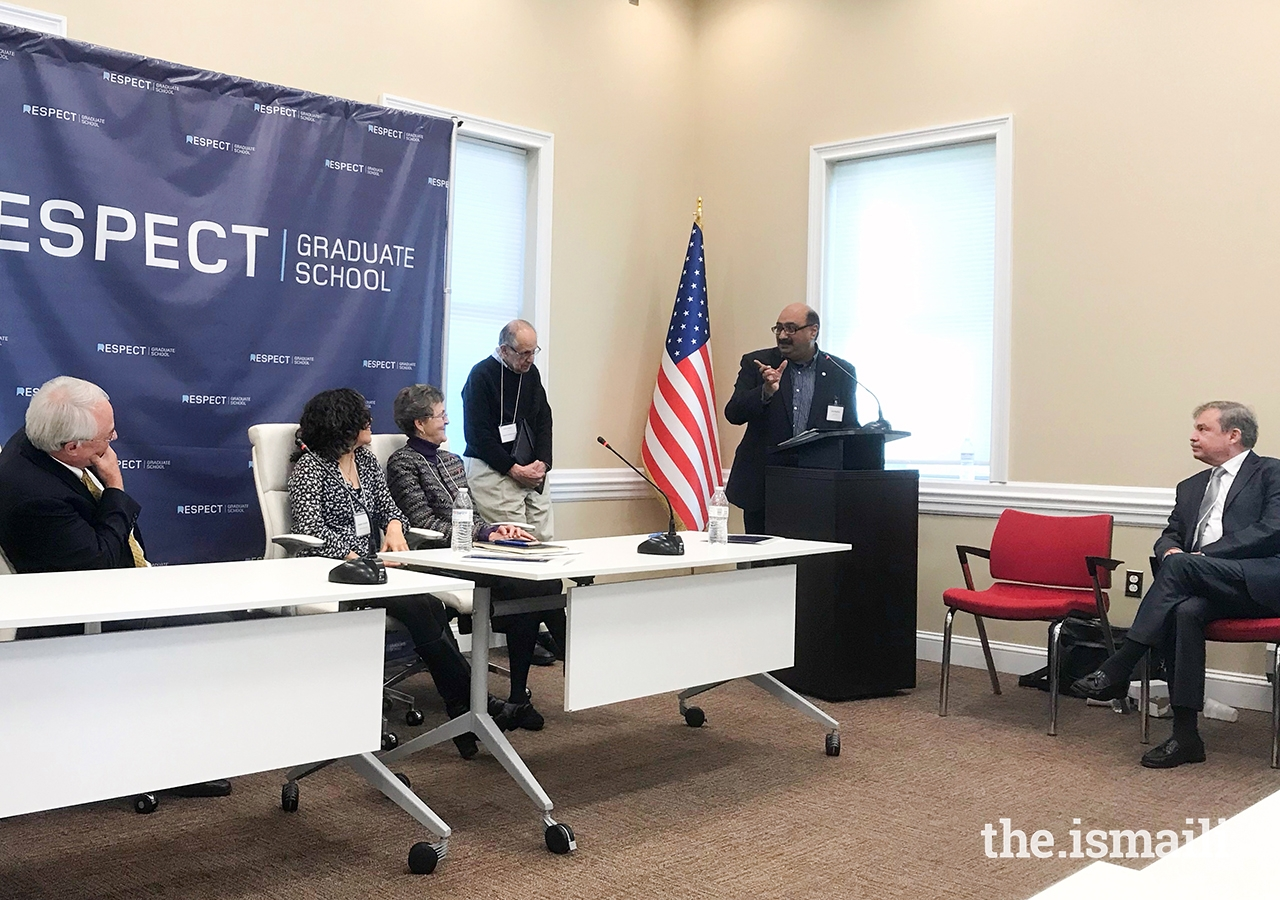"The Interfaith Conference held at Respect Graduate School in Pennsylvania in 2018, was co-chaired by Aziz Nathoo. This was one of a series of three such conferences also held at the University of Pennsylvania and George Mason University on the theme, ""Healing the Soul of the Nation."""