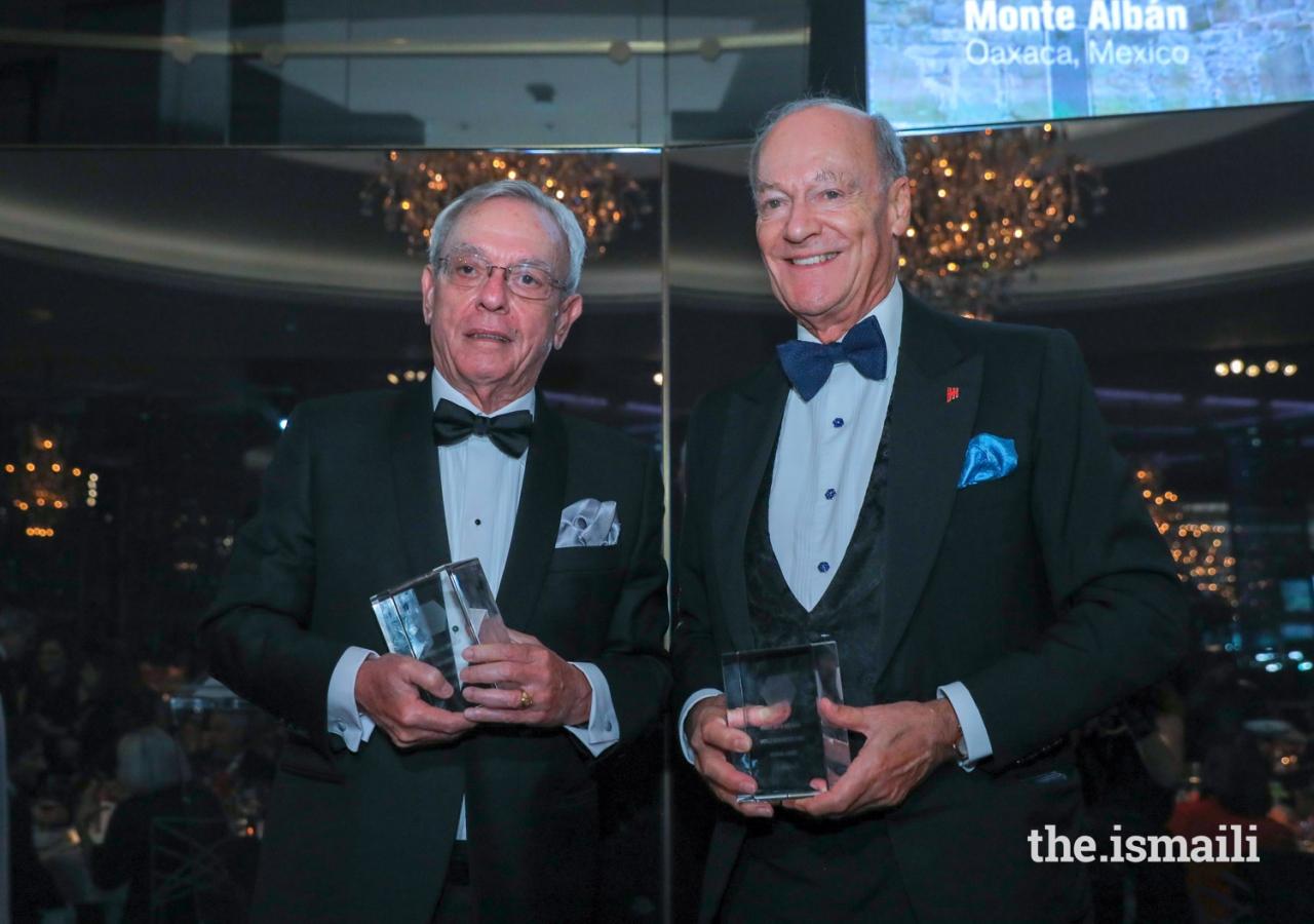 2018 Hadrian Award Recipients, Dr. Eusebio Leal Spengler and Prince Amyn.