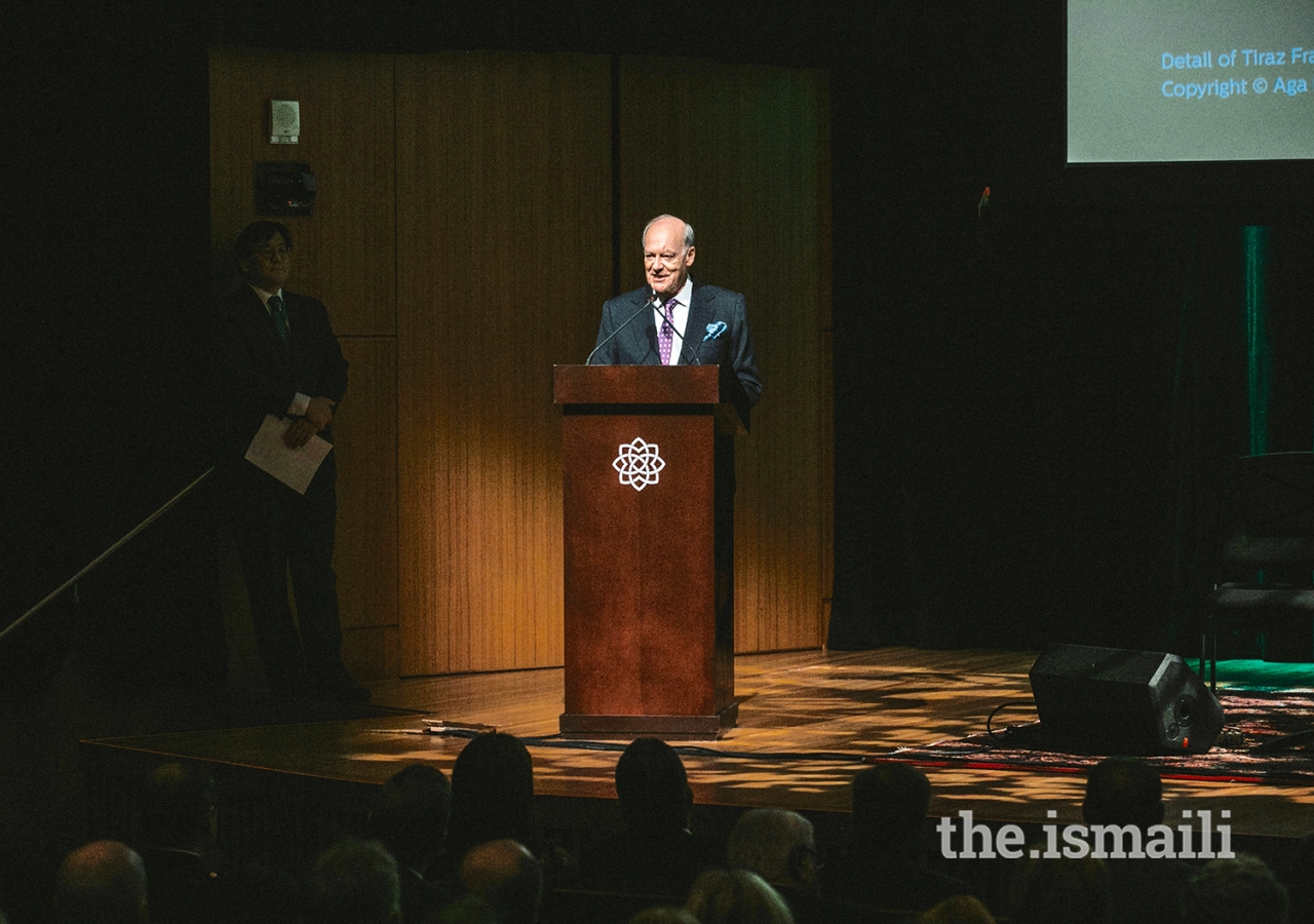 Chairman of the Aga Khan Museum board, Prince Amyn, delivers the keynote address during the opening of The World of the Fatimids exhibition in Toronto. Prince Amyn noted that the Fatimid period was a renaissance, marked by 'exceptional creativity.'