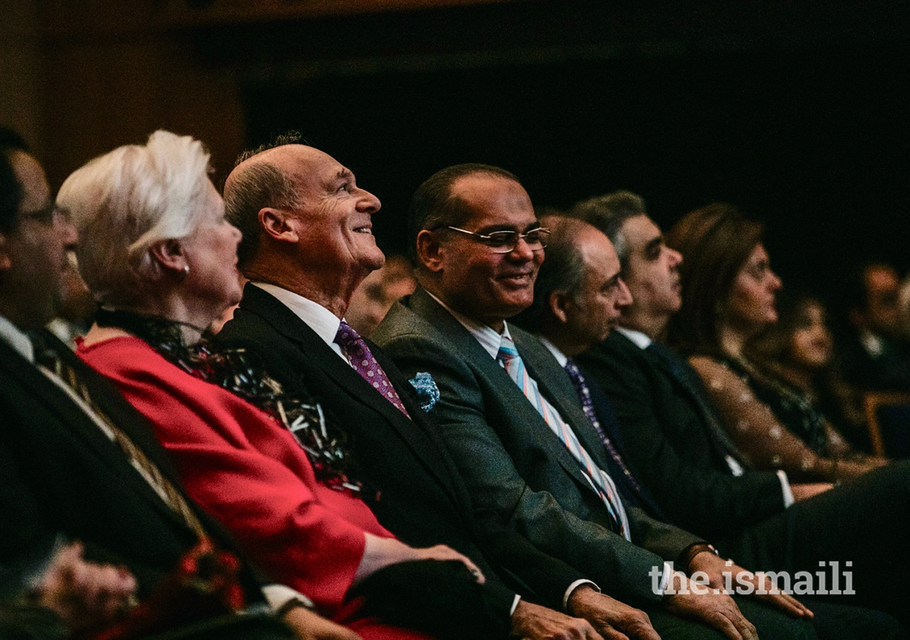 Prince Amyn, the Honourable Elizabeth Dowdeswell, Lieutenant Governor of Ontario, and other guests attended the premiere of the exhibition at the Aga Khan Museum.