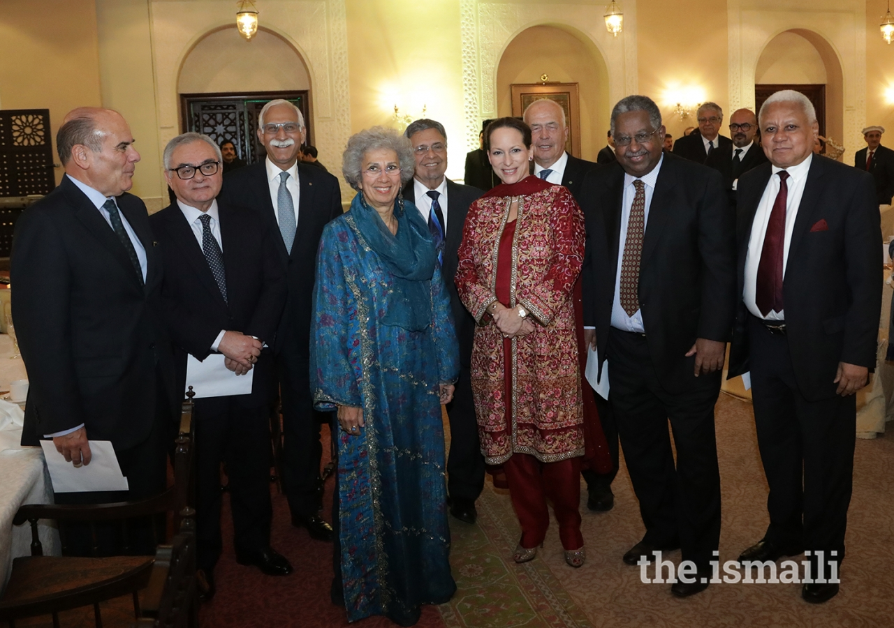 Princess Zahra Aga Khan with the Board of Trustees at the institutional dinner at Serena Hotel Islamabad