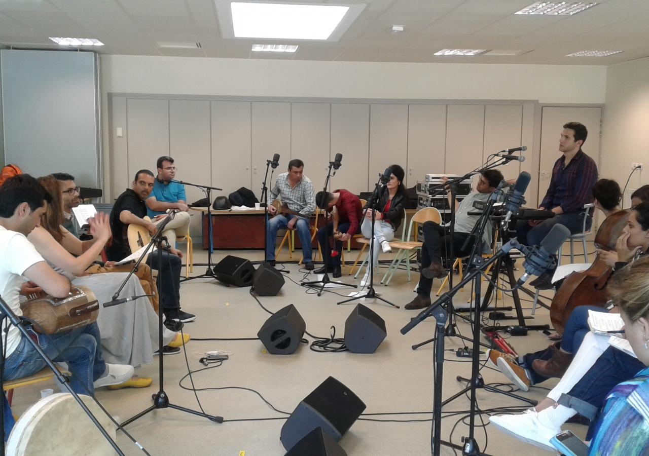 The Musical Ensemble rehearsing in Chantilly, France