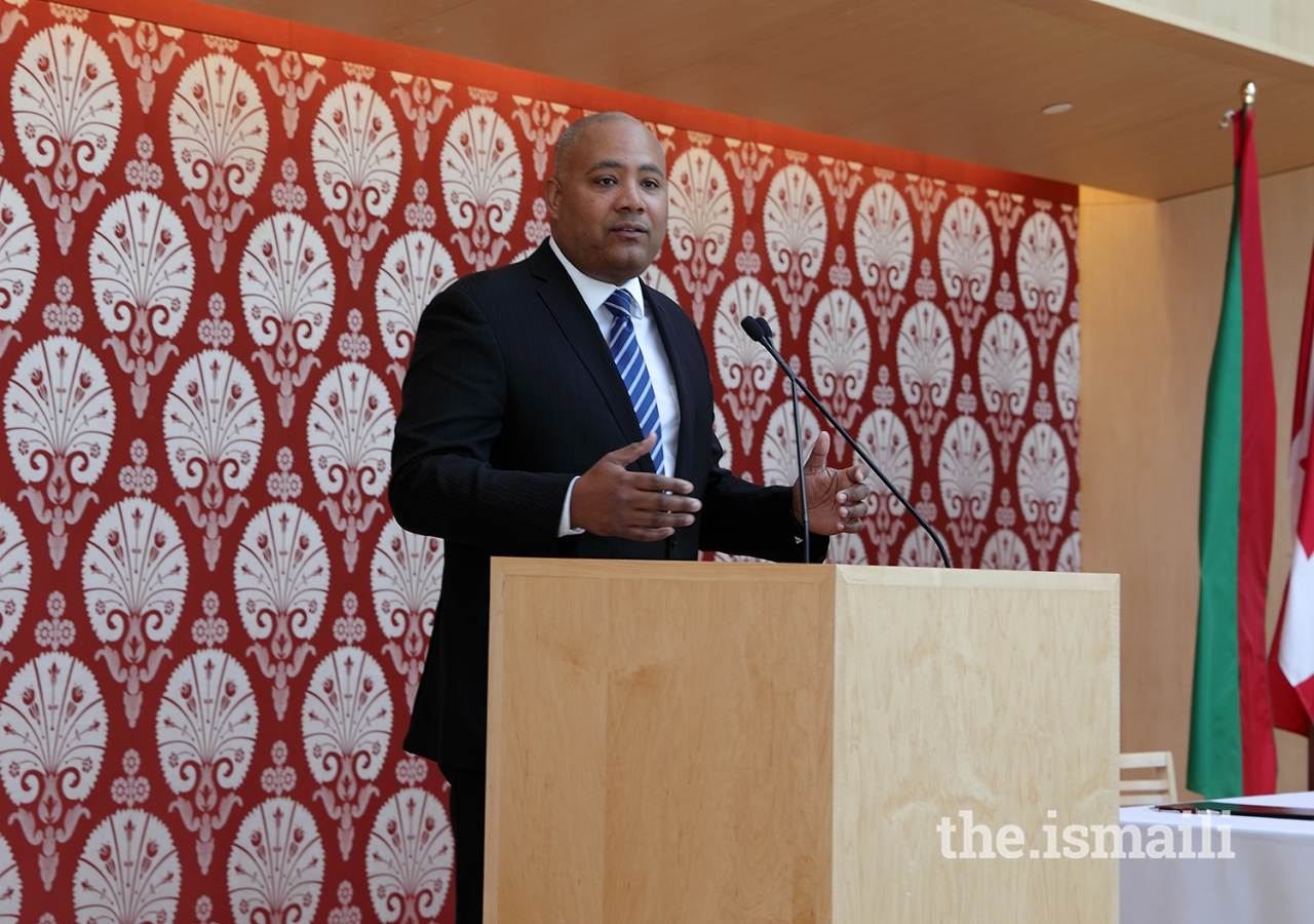 """During his remarks, the Honourable Michael Coteau, Minister Responsible for Anti-Racism, noted that """"We're better off working together on this planet."""""""