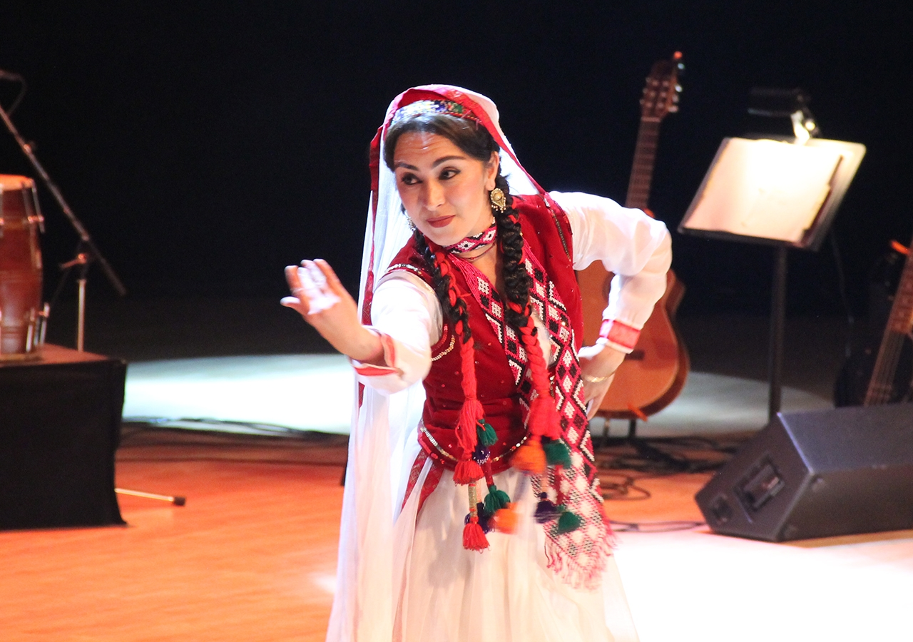 A dancer performs during the Rihla performance in Calgary.