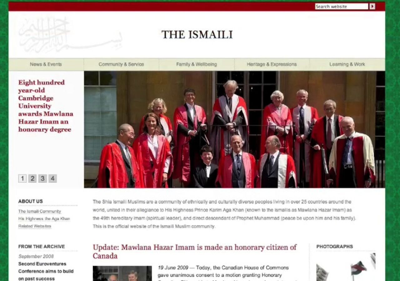 A video tour highlighting the redesign of TheIsmaili.org.
