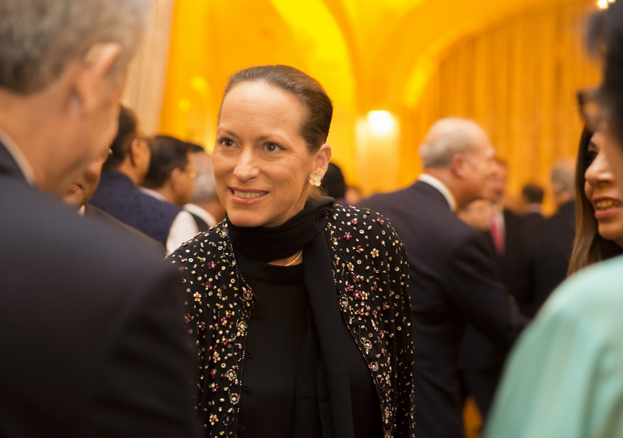 Princess Zahra meets with Jamati and institutional leaders at the celebration of Prince Amyn's 80th birthday.