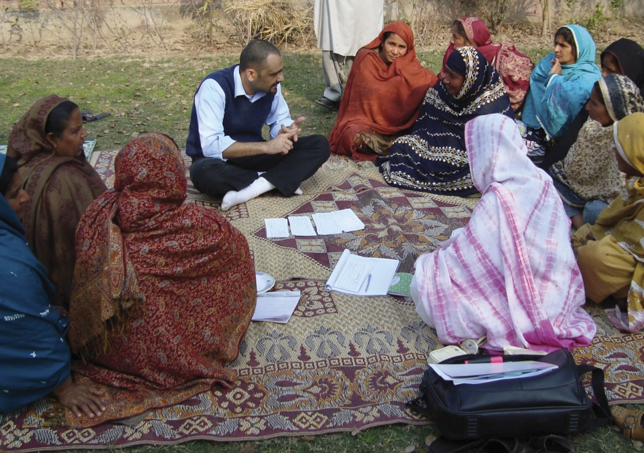 First MicroFinance Bank (FMFB) Pakistan's social performance research analyst conducts an information disclosure session.