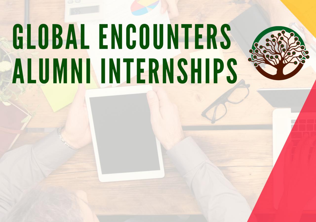 Global Encounters Alumni Internship Programme