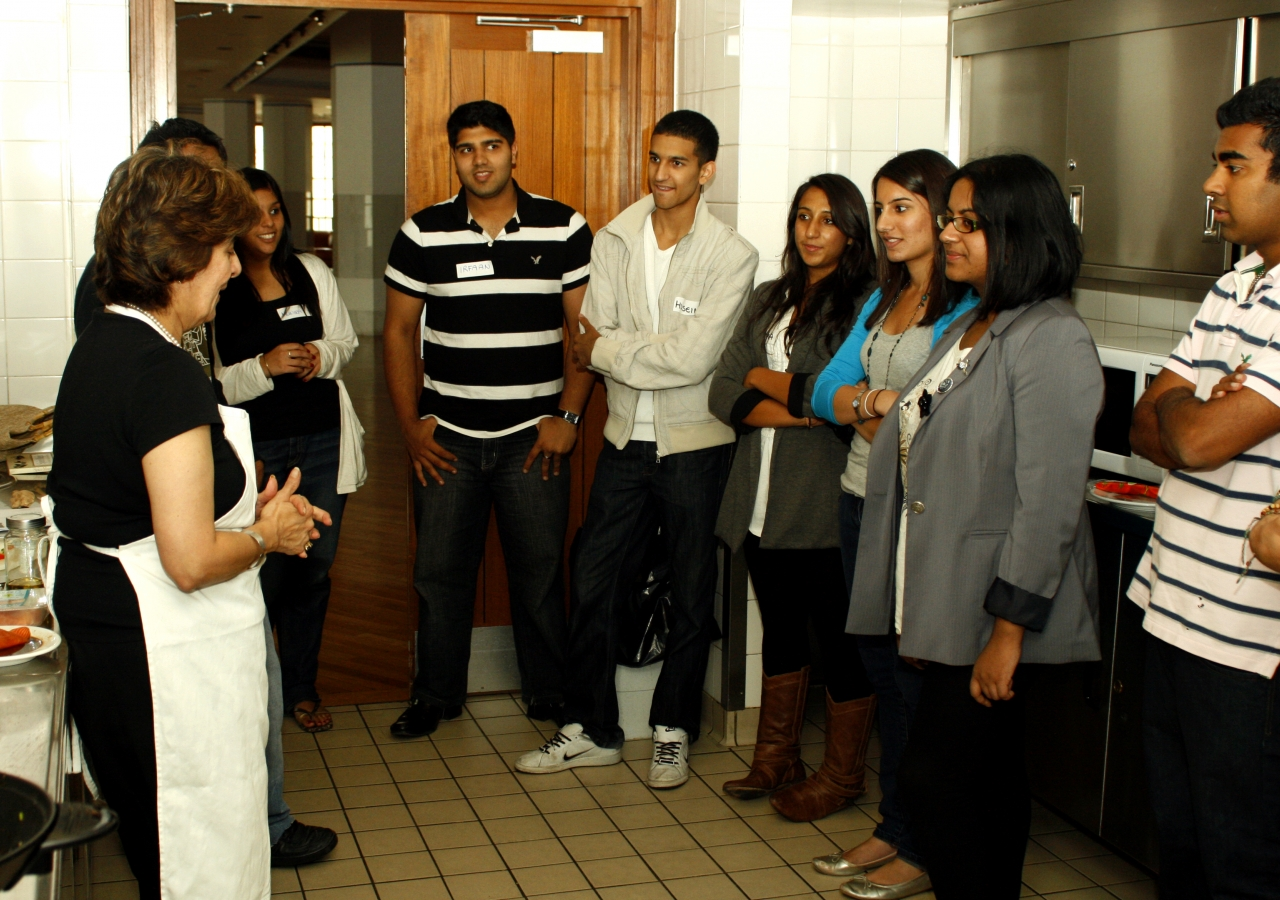 A highlight of the event was the cooking demonstration given by Pinky Lilani.