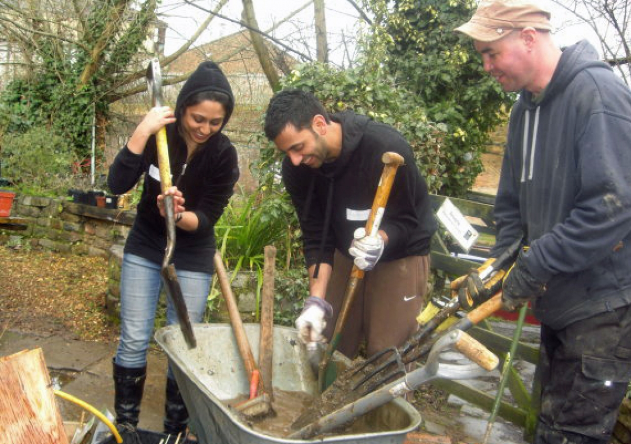Volunteers at the Camley Street Nature Park busied themselves digging, raking, levelling and pulling out unwanted roots.