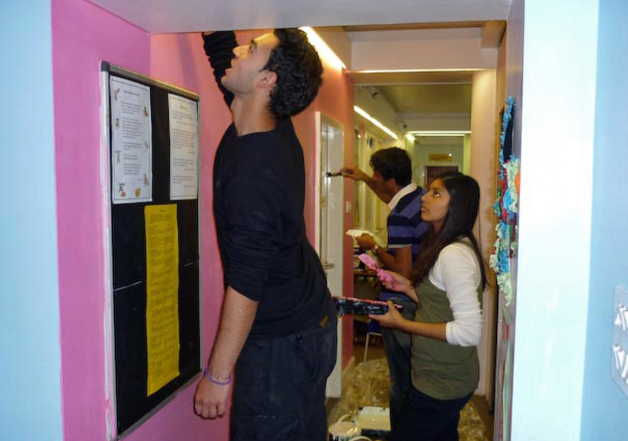 At the Priority Heights After-School Club in Islington, Get Involved volunteers splashed a bit of colour on the walls.
