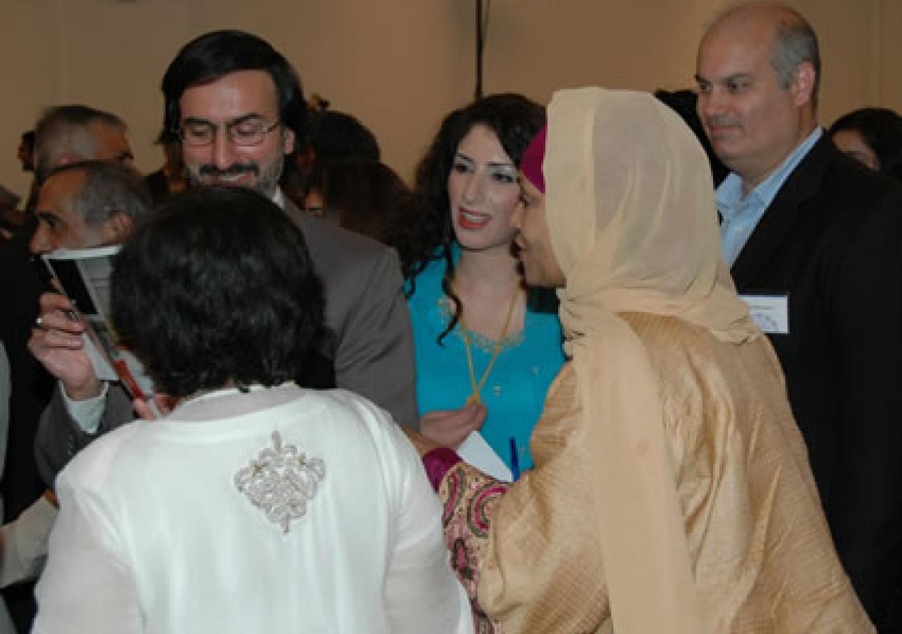 Dr. Reza Shah-Kazemi with Milad guests in Atlanta