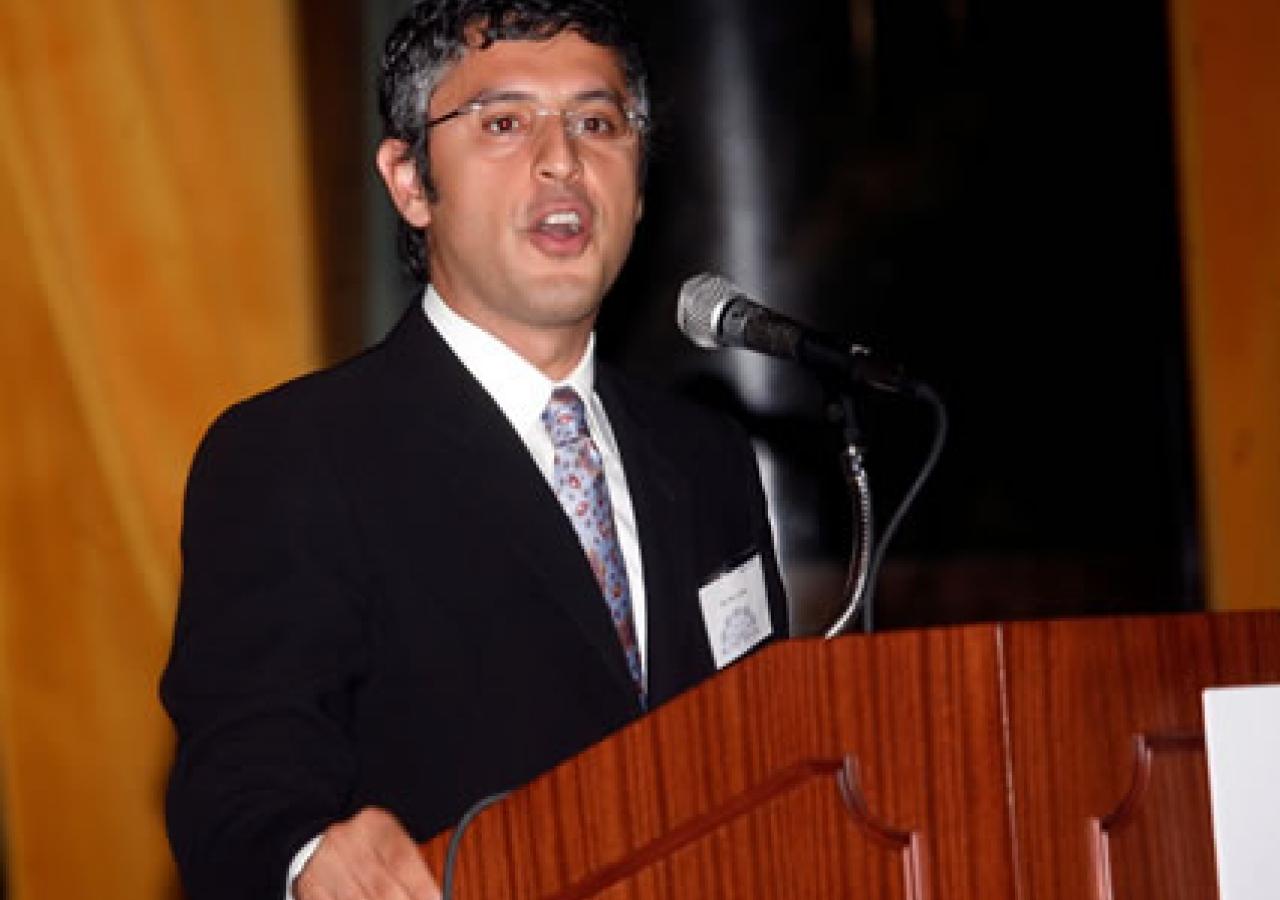 Dr. Reza Aslan delivering his keynote address in New York