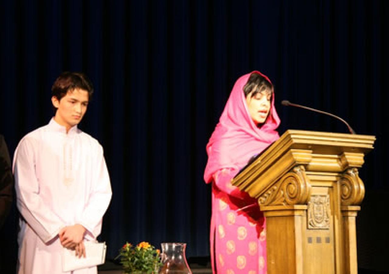 Translation of the Tilawat is read at Milad in Toronto
