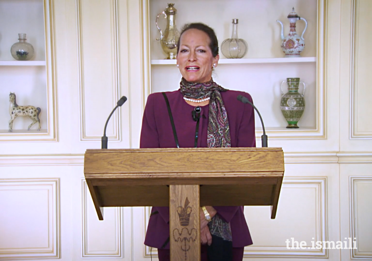 Princess Zahra welcomes viewers to the 2021 Annual Pluralism Lecture which was hosted virtually this year.