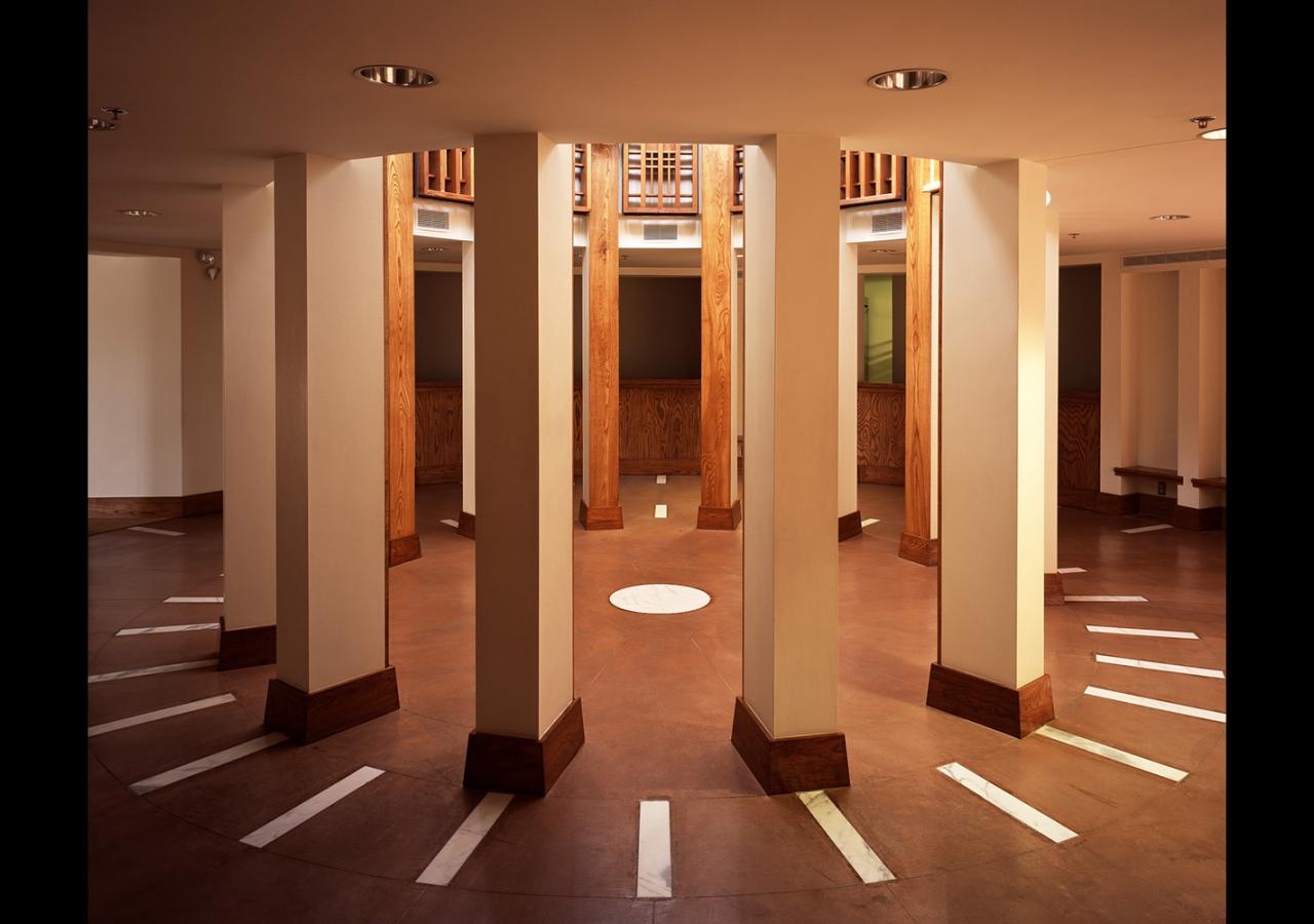 The rotunda inside the Ismaili Jamatkhana and Center, Houston. Gary Otte