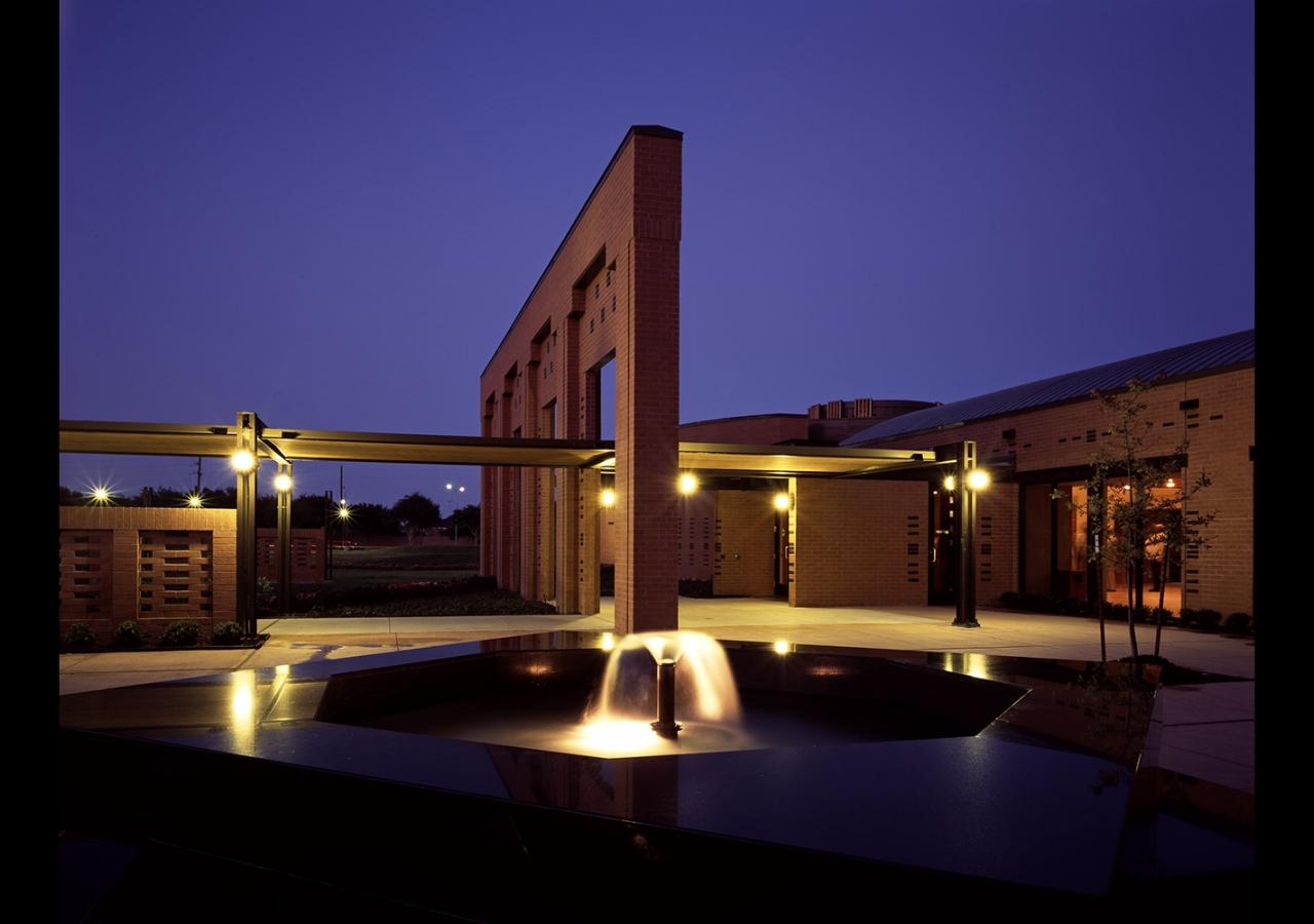 An evening view of the Ismaili Jamatkhana and Center, Houston. Gary Otte