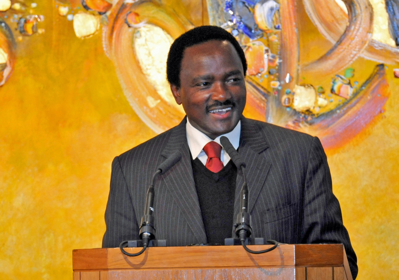 The Vice President of Kenya, His Excellency Stephen Kalonzo Musyoka, addresses delegates at the Opportunities Africa conference organised by the Aga Khan Economic Planning Boards and held at the Ismaili Centre, London.