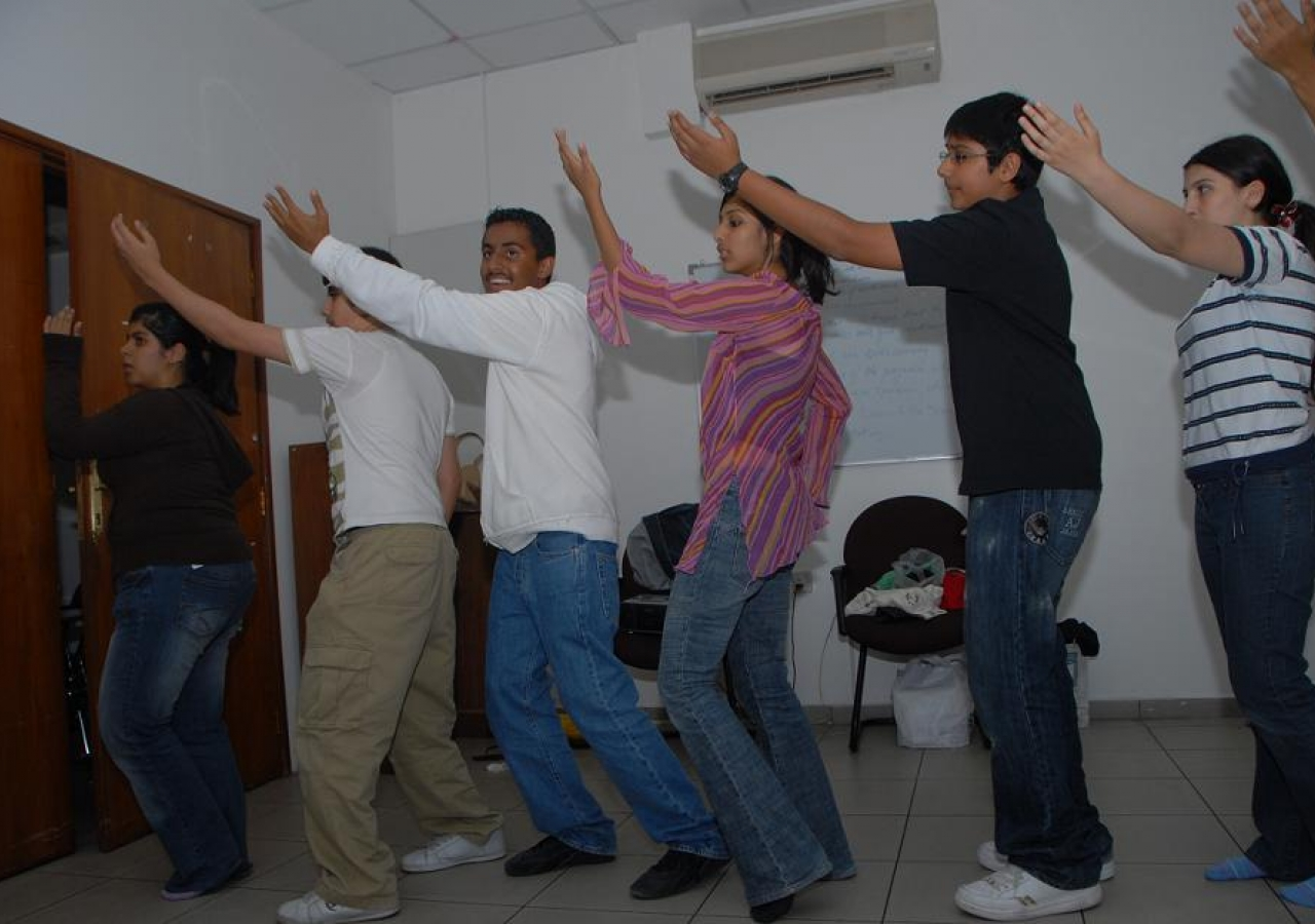 Youth practicing dance performances for the celebrations