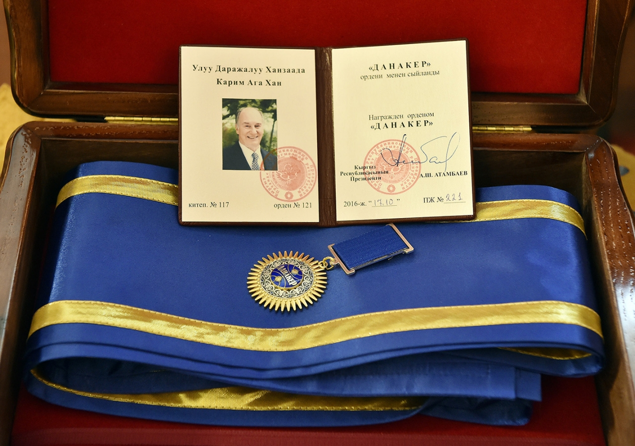 The Order of Danaker is the highest recognition that the Kyrgyz nation can bestow upon a foreign citizen. Gary Otte