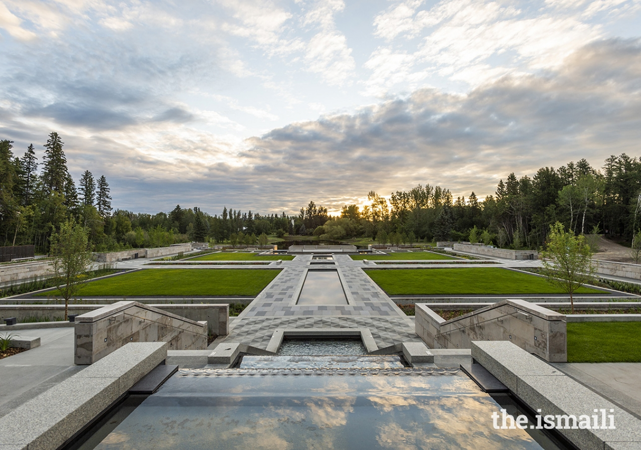 The Aga Khan Garden in Edmonton is a 4.8 hectare Mughal-inspired space and is the northernmost Islamic garden in the world.