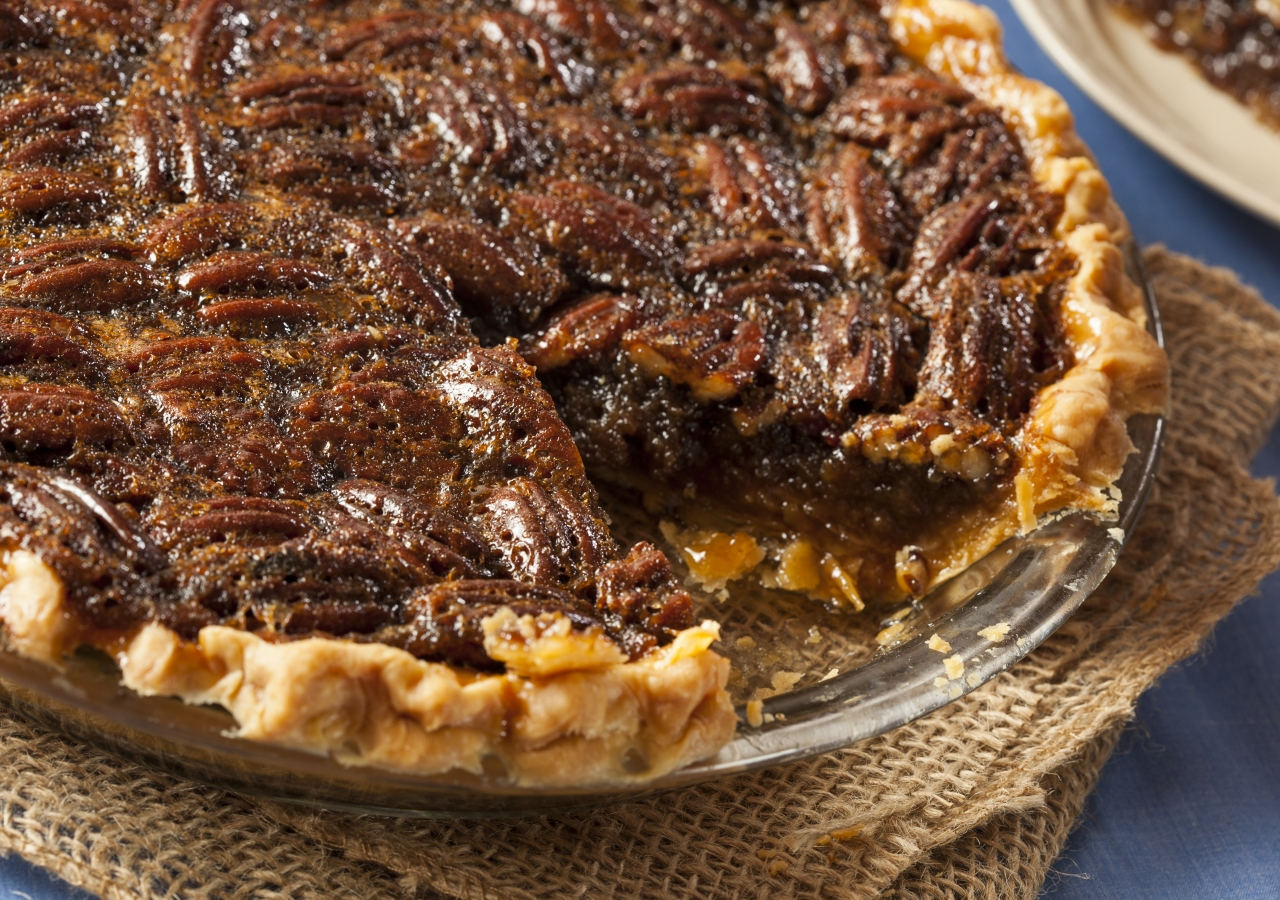 Crunchy on the outside and gooey on the inside make the pecan a delectable dessert.