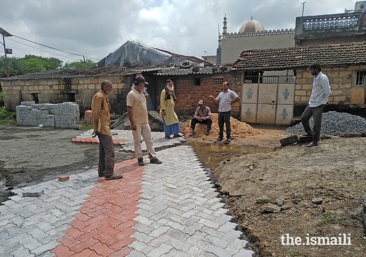 Road paving work underway in Chitravad.