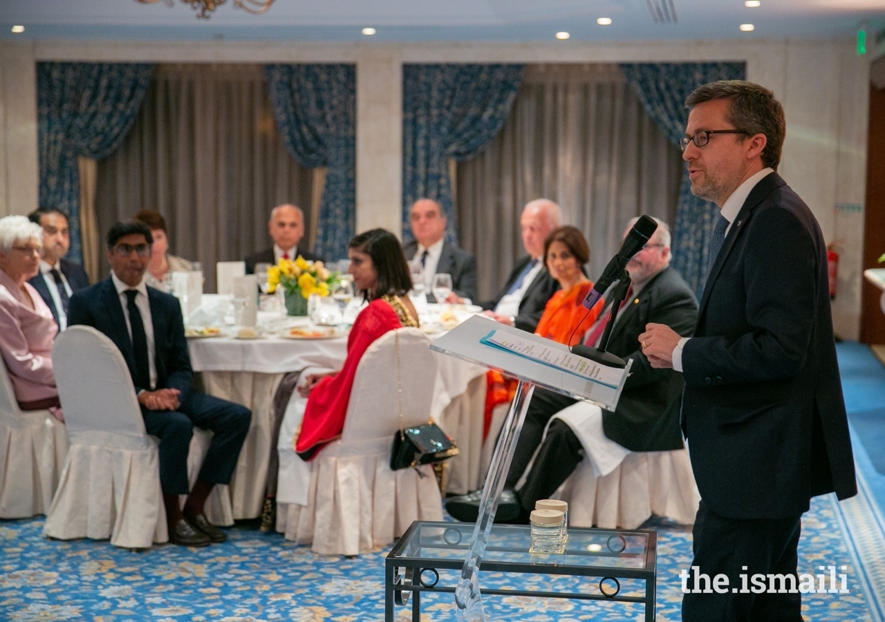 Mr Carlos Moedas, the European Commissioner for Research, Science and Innovation, delivering the keynote address in Lisbon, 13 April 2019.
