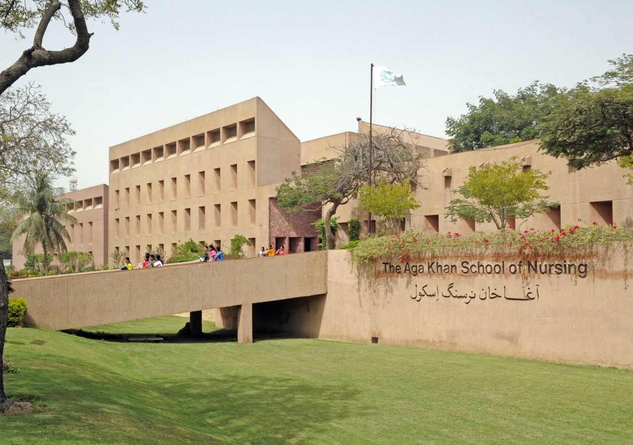 The Aga Khan School of Nursing in Karachi, Pakistan.
