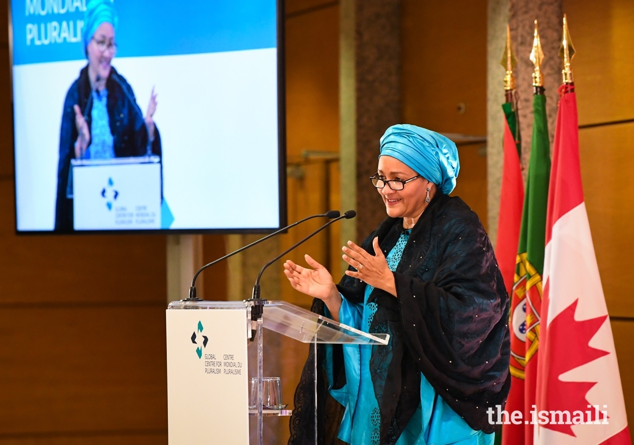 Deputy Secretary-General of the United Nations, Amina J. Mohammed delivers the 2019 Annual Pluralism Lecture.