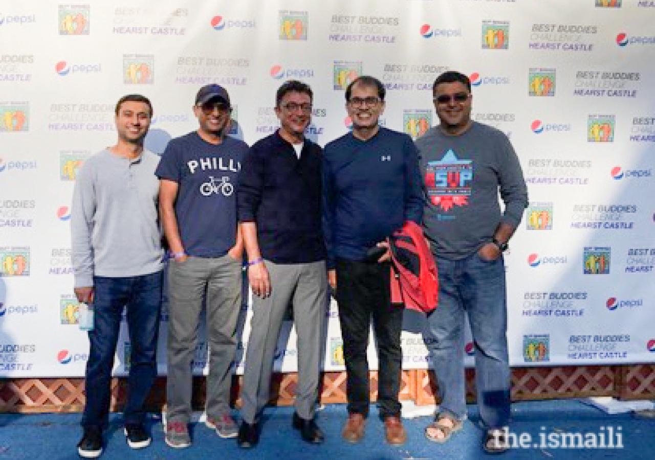 Riders, Alishan Jadhavji, Amin Gilani, Azim Rajan, Amyn Barolia, and Hussain Moloo celebrating their 9th ride!.