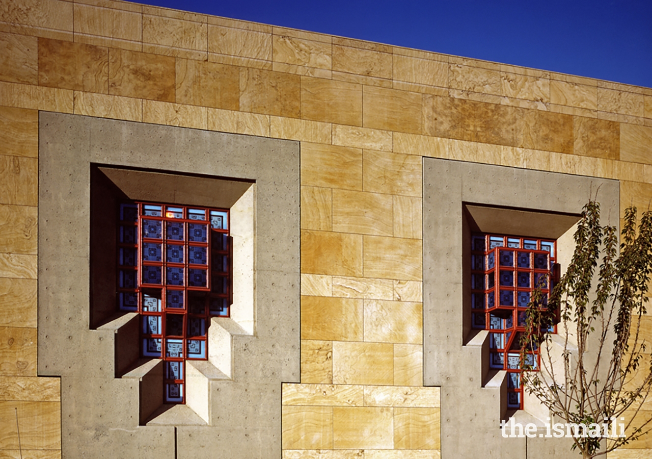An outside view of the lantern-like windows of the Ismaili Centre, Burnaby