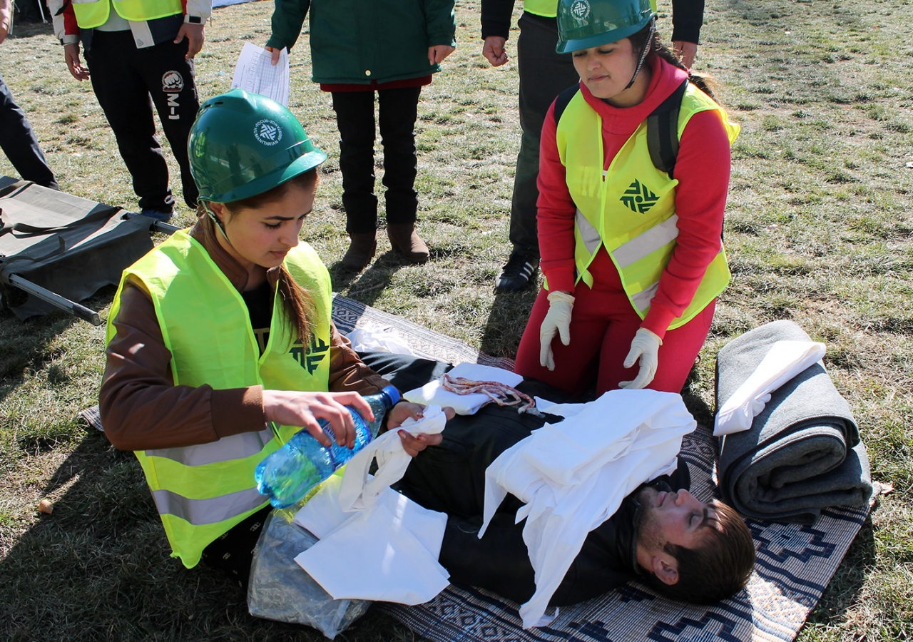 Trained as first responders, Community Emergency Response Team members are able to provide first aid when disaster strikes. FOCUS