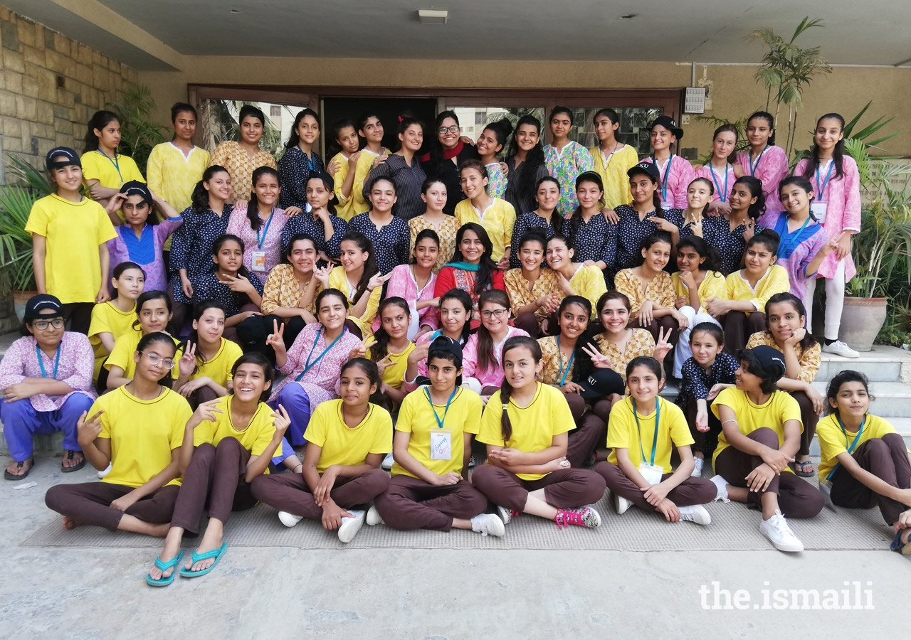 Sana and Sumaira Lokhandwala with students of Muhammad Ali Girls Academy after delivering an Education Session.