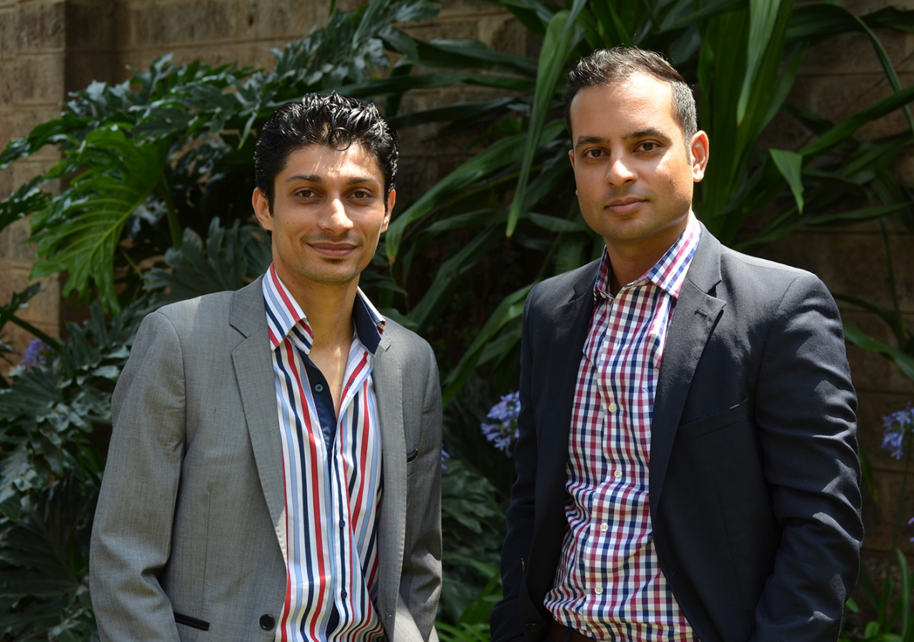 Bamba founders Al Ismaili, Shehzad Tejani and Faiz Hirani (not shown) saw an opportunity to use their company's business model to improve education and address poverty. Courtesy of Bamba