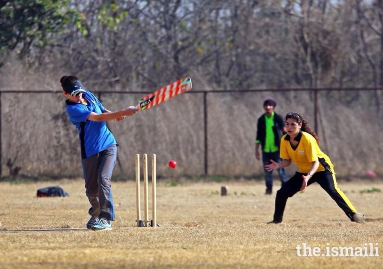 A Cricket match at the DJSF National Games