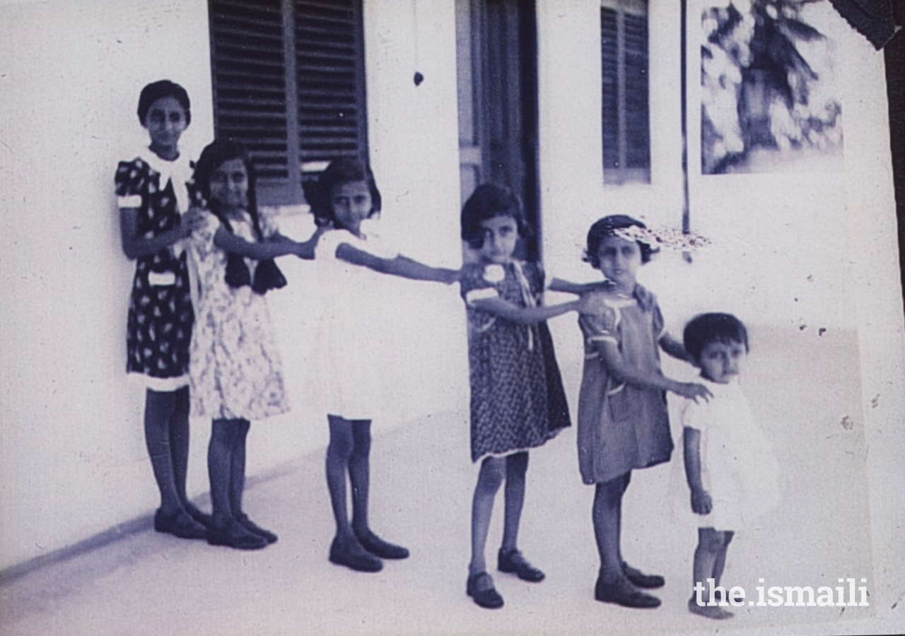 Dr Amina (far right), with her five elder sisters in 1938.