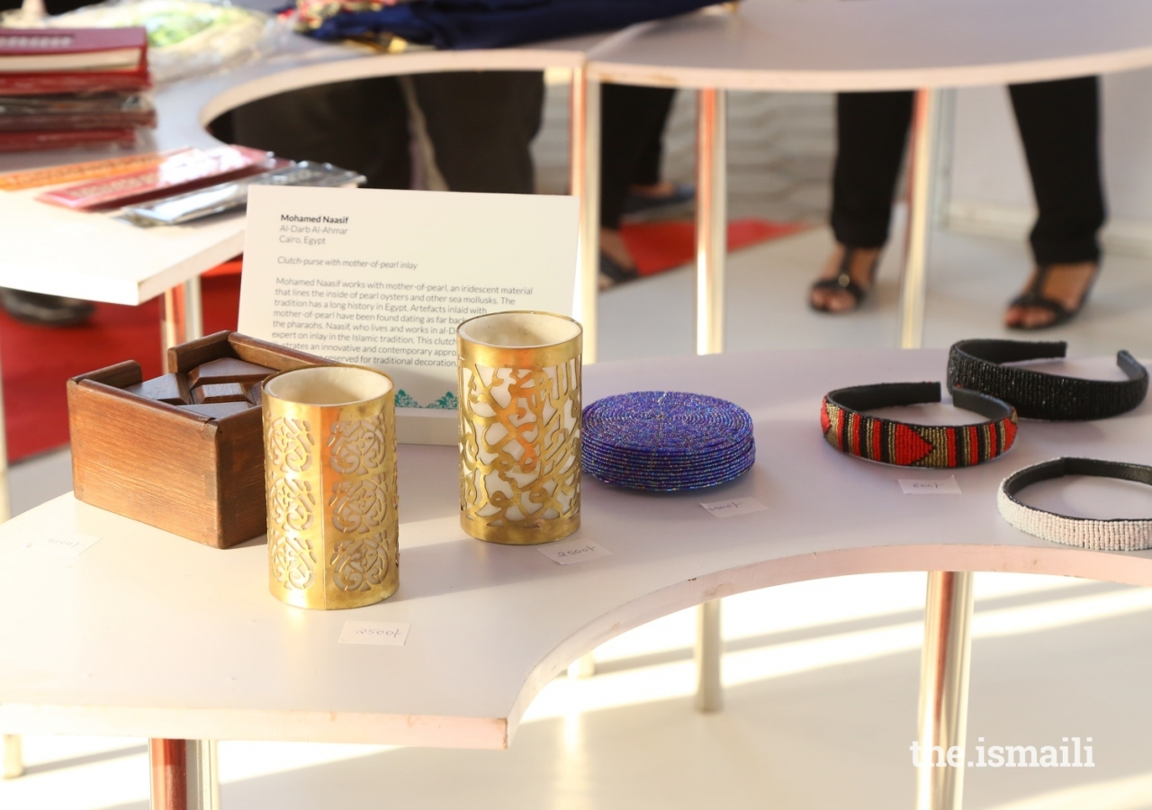 A selection of artwork and handicrafts are on display at the Ethics in Action exhibition at the Diamond Jubilee Celebration.