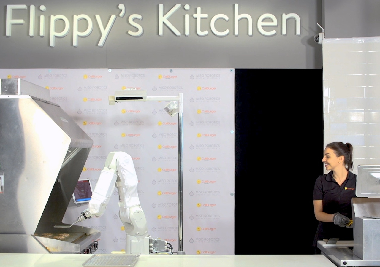 Flippy, the burger-flipping robot.