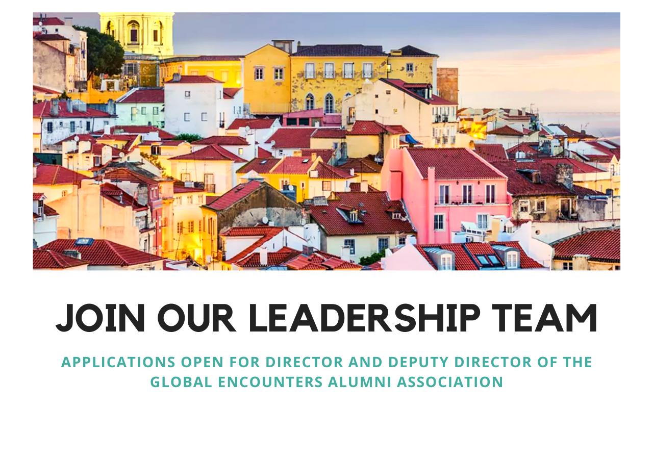 Global Encounters Alumni Association Recruitment