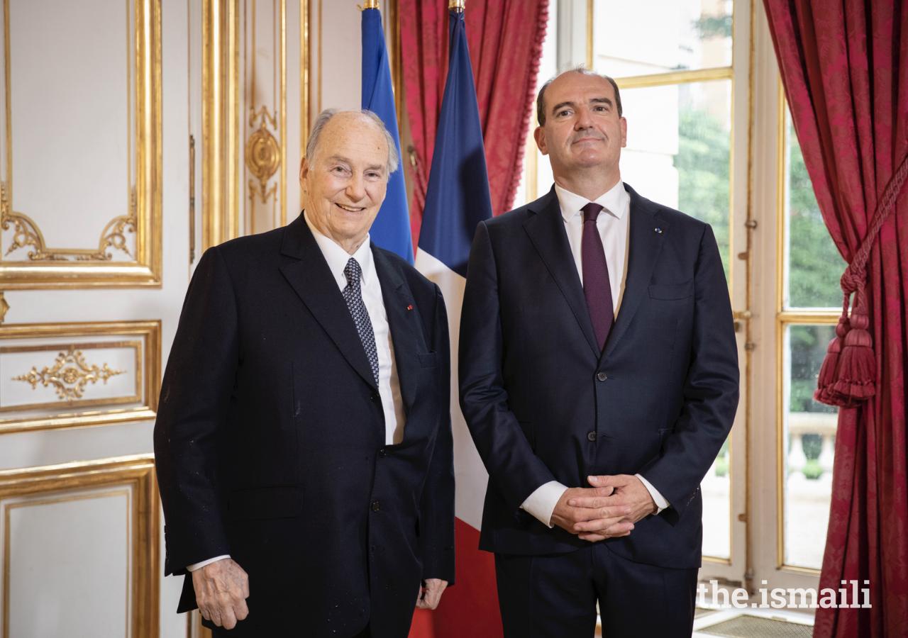 Mawlana Hazar Imam s'est entretenu avec le Premier ministre français Jean Castex le 13 juillet 2021